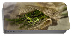 Green Asparagus On Burlab Portable Battery Charger by Iris Richardson