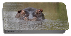 Hippopotamus Hippopotamus Amphibius Portable Battery Charger by Panoramic Images