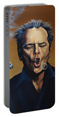 Jack Nicholson Painting Portable Battery Charger by Paul Meijering