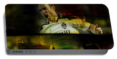 Landon Donovan Portable Battery Charger by Marvin Blaine