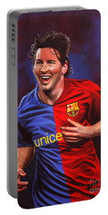 Lionel Messi  Portable Battery Charger by Paul Meijering