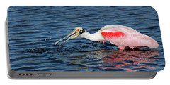 Roseate Spoonbill Portable Battery Charger by Cindi Ressler