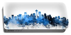Seattle Washington Skyline Portable Battery Charger by Michael Tompsett