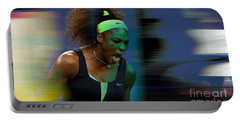 Serena Williams Portable Battery Charger by Marvin Blaine