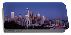 Skyscrapers In A City, Seattle Portable Battery Charger by Panoramic Images