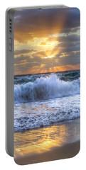 Splash Sunrise Portable Battery Charger by Debra and Dave Vanderlaan