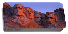 Usa, South Dakota, Mount Rushmore Portable Battery Charger by Panoramic Images