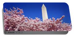 Washington Monument Washington Dc Portable Battery Charger by Panoramic Images