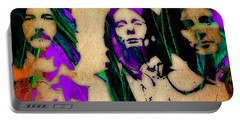 Cream Eric Clapton Jack Bruce Ginger Baker Portable Battery Charger by Marvin Blaine