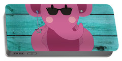 Friendly Elephant Art Portable Battery Charger by Marvin Blaine