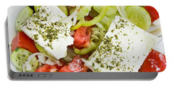 Greek Salad Portable Battery Charger by Tom Gowanlock