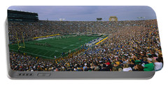 High Angle View Of A Football Stadium Portable Battery Charger by Panoramic Images
