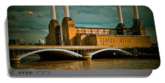 Pink Floyd Pig At Battersea Portable Battery Charger by Dawn OConnor