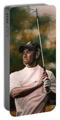 Tiger Woods  Portable Battery Charger by Paul Meijering
