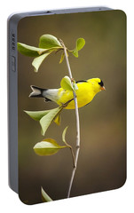 American Goldfinch Portable Battery Charger by Christina Rollo