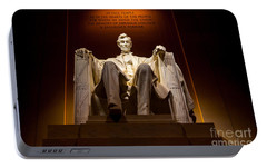 Lincoln Memorial At Night - Washington D.c. Portable Battery Charger by Gary Whitton