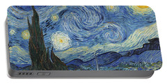 The Starry Night Portable Battery Charger by Vincent Van Gogh