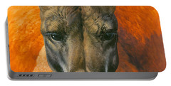 Kangaroo Portriat Portable Battery Charger by John Francis