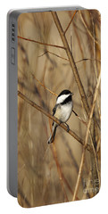 Black-capped Chickadee Portable Battery Charger by Linda Freshwaters Arndt