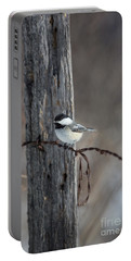 Black-capped Chickadee Poecile Portable Battery Charger by Linda Freshwaters Arndt