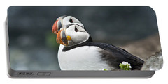Puffins Portable Battery Charger by Heiko Koehrer-Wagner