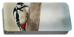 Woodpecker  Portable Battery Charger by Heike Hultsch