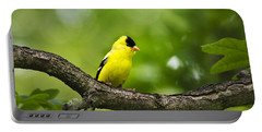 American Goldfinch-4 Portable Battery Charger by Christina Rollo