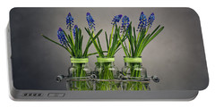 Hyacinth Still Life Portable Battery Charger by Nailia Schwarz