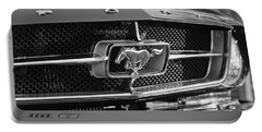 1965 Shelby Prototype Ford Mustang Grille Emblem Portable Battery Charger by Jill Reger