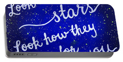 8x10 Look At The Stars Portable Battery Charger by Michelle Eshleman