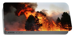 Portable Battery Charger featuring the photograph A Burst Of Flames From The White Draw Fire by Bill Gabbert
