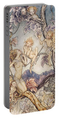 A Fairy Song From A Midsummer Nights Dream Portable Battery Charger by Arthur Rackham