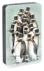 A Gathering In The Snow Portable Battery Charger by Eric Fan