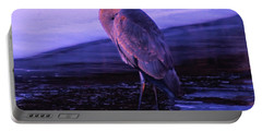 A Heron On The Moyie River Portable Battery Charger by Jeff Swan