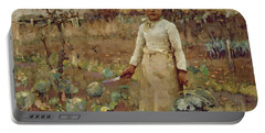 A Hinds Daughter, 1883 Oil On Canvas Portable Battery Charger by Sir James Guthrie