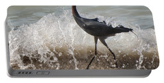 A Morning Stroll Interrupted Portable Battery Charger by Gary Slawsky