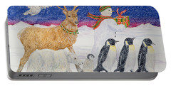 A Present For Santa  Portable Battery Charger by Catherine Bradbury