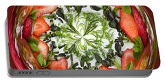 A Round Of Fresh Fruit Salad Portable Battery Charger by Anne Gilbert