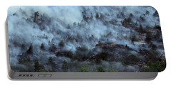 Portable Battery Charger featuring the photograph A Smoky Slope On White Draw Fire by Bill Gabbert