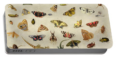 A Study Of Insects Portable Battery Charger by Jan Van Kessel