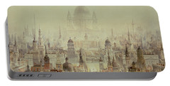 A Tribute To Sir Christopher Wren Portable Battery Charger by Charles Robert Cockerell