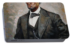 Abraham Lincoln Portable Battery Charger by Ylli Haruni