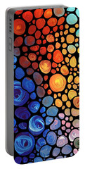 Abstract 1 - Colorful Mosaic Art - Sharon Cummings Portable Battery Charger by Sharon Cummings