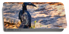 Abyssinian Ground Hornbill Portable Battery Charger by Chris Flees