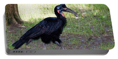 Abyssinian Ground-hornbill Portable Battery Charger by Gregory G. Dimijian