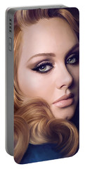 Adele Artwork  Portable Battery Charger by Sheraz A