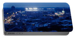 Aerial View Of A City, Wrigley Field Portable Battery Charger by Panoramic Images