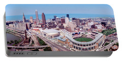 Aerial View Of Jacobs Field, Cleveland Portable Battery Charger by Panoramic Images