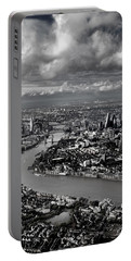 Aerial View Of London 4 Portable Battery Charger by Mark Rogan