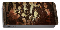 Aerosmith - Back In The Saddle Portable Battery Charger by Absinthe Art By Michelle LeAnn Scott